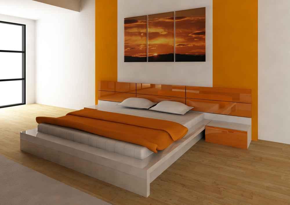 pomarańczowe meble do sypialni w Białymstoku